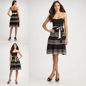BCBGMAXAZRIA Tiered Tulle Strapless Dress